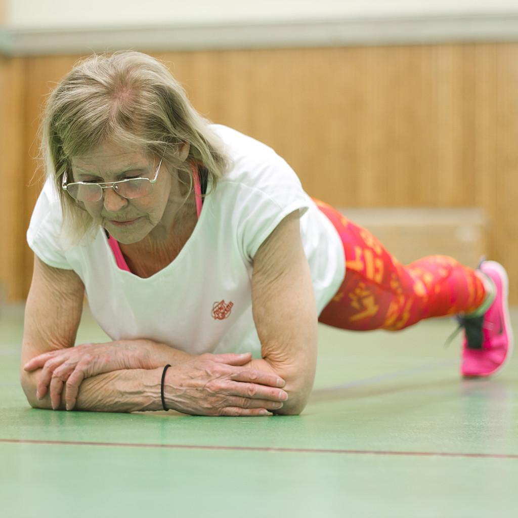 Birgitta Doing The Plank